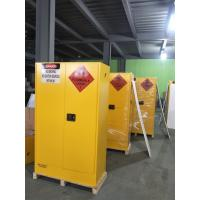 China Lockable Chemical Storage Cabinets , Flammable Liquid Containers Double Vents wholesale