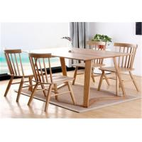 China Funky Wooden High Back Dining Chairs , Recliner Contemporary Light Oak Kitchen Chairs wholesale