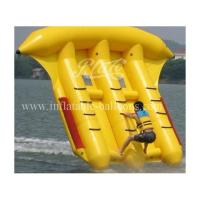 China Exciting Yellow Inflatable Flying Fish Floating 3m x 3m 0.9mm PVC Tarpaulin wholesale