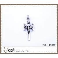 China Hot sell 316 Stainless Steel Cross & Death's-Head Pendant H-L1823 wholesale