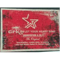China Heat Transfer Clothing Labels Silk Screen Sticker With Customized 3D LOGO / Color wholesale