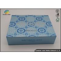 China Blue UV Coating Cardboard Packing Boxes / Decorative Paper Boxes wholesale