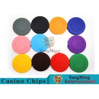 China Roulette Dedicated / Solid Color ABS Poker Chips Can Be Custom or Print Logo wholesale