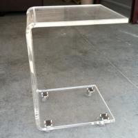 China Modern Office Acrylic Furniture , Acrylic Side Table With Casters wholesale