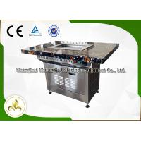 China Stainless Steel Electric Self Service Mini Teppanyaki Table Grill Down Exhaustion for Restaurant Hotel wholesale