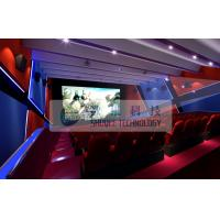China Attractive 4d simulator cinema , 3D 4d 5D 6D movie with flat / arc screen for Theme park wholesale