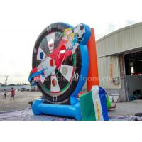 China 4m Cartoon Printing Inflatable Soccer Dart Board Football Shooting Game For Outdoor Sports wholesale