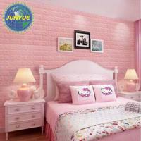 China Decorative XPE foam 3d wall paper different kinds of colors and types wholesale