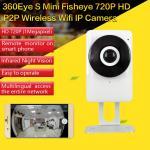 EC1 360Eye S 185degree Panorama Camera iOS/Android APP Night Vision 720P CCTV IP P2P WiFi Wireless Surveillance Security