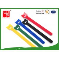 China Durable T shape hook and loop cable tie roll  nylon material 150 * 12mm wholesale