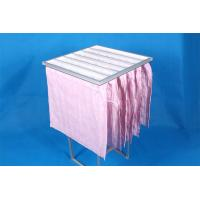 China High Efficiency F7 Pocket Air Filter Pink Dust Collector Filter Bags Without Clapboard wholesale