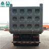 China JOST Bolt In King Pin Tipper Trailer Truck / Black Tri Axle Semi Tipper wholesale