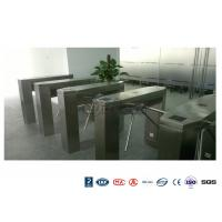 China Waist High Railway Access Control Turnstiles Stainless Steel Silver RFID Reader wholesale