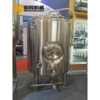 China Bright Beer Brewery Fermentation Tanks , 1000l Beer Stainless Steel Tank wholesale