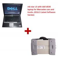China Multi Language 2016.12 MB Star C3 Mercedes Diagnostic Tool with Dell D630 Laptop Works with Cars & Trucks wholesale