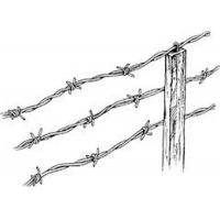 Buy cheap Hot Dipped Galvanized Sharp Fence Barbed Wire Roll 450mm - 960mm Diameter from wholesalers