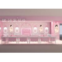 China Easy Install Showroom Display Cases Acrylic Logo Pink Coating Finish Color wholesale