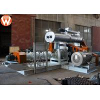 China 4T/H Wet Type Fish Feed Extruder Machine With Modulator Power 5.5KW Screw 200mm on sale