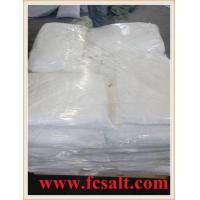 China Rock Salt Ice Melt with pallet and plastic film on sale