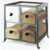 China Black Frame Acrylic Bakery Display Case With Four Compartment wholesale