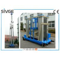 China Blue Aluminum Alloy  Mobile Elevating Work Platform 20 M For Window Cleaning wholesale