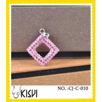 China Antique style dimond pink handcrafted crystal charm to highlight your spring time wholesale