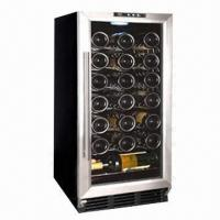 China R134A/88L/3.11cuft wine refrigerator with 32 bottles capacity, free standing, wire shelves wholesale