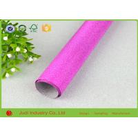 China Fancy Design Printed Roll Wrapping Paper Glitter / Velvet Treatment 70cm X 300cm wholesale