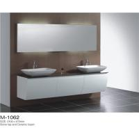 China Wall Mounted Double Sink Bathroom Vanity Stable Mould Resistant Customized Color wholesale