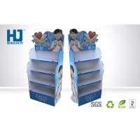 China Beautiful promotional corrugated cardboard display stand for cosmetic wholesale