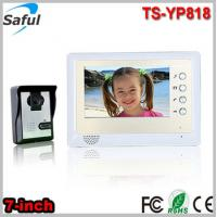 China Saful Saful TS-YP818 1v1 cheapest 7-inch TFT LCD wired video door phone peephole intercom door bell door ring wholesale