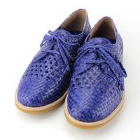 China 2015 hot selling new fashionable leather woven hand sewn shoes mark flat women shoes wholesale