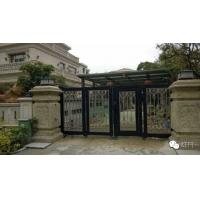 China Aluminum Collapsible Automatic Motorised Sliding Gate With Photo Cell For Private Area Entry on sale