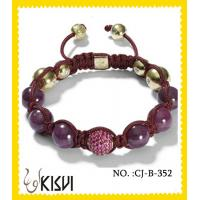 Quality OEM / ODM round red 10 mm crystal beaded bracelet for anniversary, gift, party for sale
