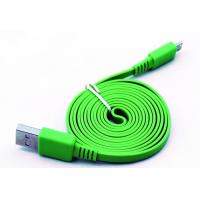 China Green Flat Micro USB2.0 Data Cable wholesale