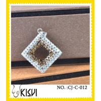 China Czekh crysta l+ 925 silver square diamond crystal charm to highlight your spring time wholesale