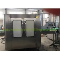 Complete Orange Juice Glass Bottle Filling Machine / Hot Fill Bottling Equipment