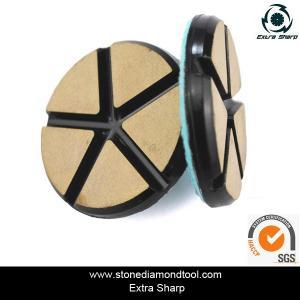 "China 3"" 80mm Ceramic Resin Bond Diamond Grinding Disc Stone Floor Polishing Pads wholesale"
