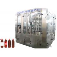 China 3 In 1 Carbonated Soft Drink Beverage Can Filling Machine PLC Control System on sale