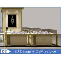 China OEM Custom Luxury Glass Jewelry Showcase Counter With Led wholesale