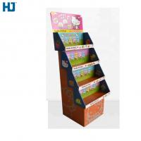China 4 Tiers Foldable Cardboard Display Hard Material For Toys Doll Supermarket Retail wholesale