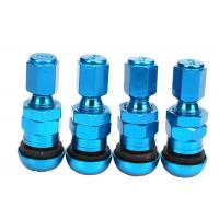 China High Strength Chrome Valve Stem CoversMetal Valve Mouth With Rubber Pad wholesale
