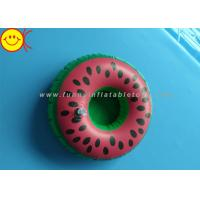 China Watermelon Inflatable Water Floats / Pool Floats Customized Inflatable Cup Holder wholesale