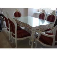 China White Wooden Dining Table And Chairs For Modern Dining Room Furniture Sets wholesale