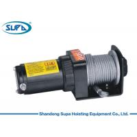 China ATV UTV 1500lb Small Electric Winch , Electric Cable Hoist Winch Gear Reduction Ratio 153 / 1 wholesale