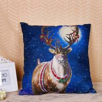 China Linen / Cotton Pillow Cushion Covers With Printed Santa Claus Elk Pattern wholesale