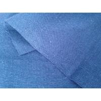 China Plain Blue Organic Cotton Hemp Blend Fabric for Home Textile Short Sleeved Sweater 11Ne * 11Ne wholesale