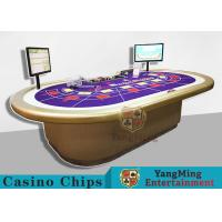 China Custom RFID Casino Chips , Grade 10 Person Electronic Poker Table With Intelligent System wholesale
