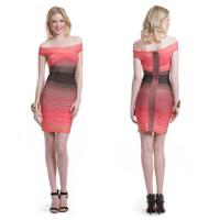 China Top Sale Sexy Gradient Wholesale Trendy Celebrity Bodycon Bandage Dress New Style wholesale