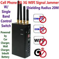China 4 Antenna Portable Cell Phone GSM 3G WIFI Signal Jammer Blocker W/ Single Band Switch wholesale